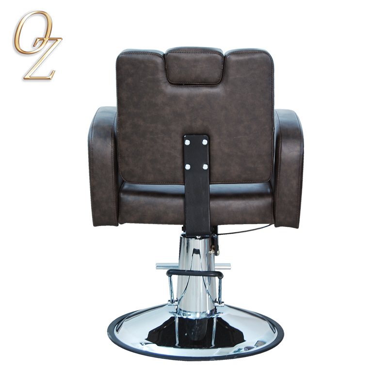 Australian Standard Australian Owned Brown Hydraulic and Reclining PVC Vinyl Hairdressing Chair With Footrest Wholesale