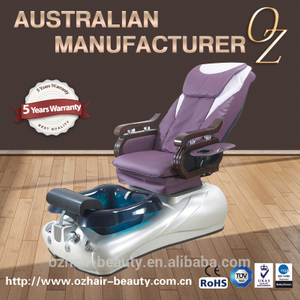 Purple Pedicure Chair Back Reclining Pedicure Chair Wholesale