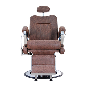 Wholesale Price Barber Furniture Heavy Duty Brown Men Barber Chair For Salon Furniture Salon Chair