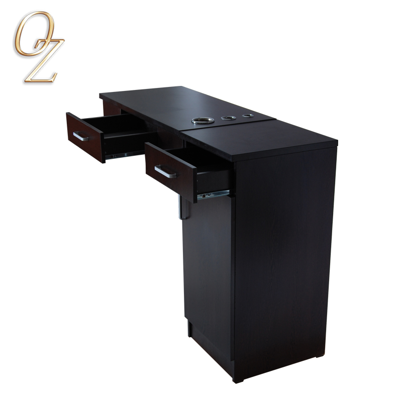 MDF structural beauty salon styling station wall cabinet design hairdressing work station