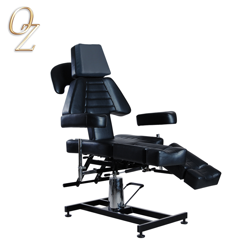 Multifunctional Black Tattoo Equipment Furniture Professional Massage Facial Table Chair Hydraulic Tattoo Bed