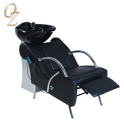 Black Electric Shampoo Chair With Massage Back Wash Chair Factory