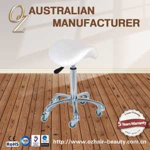 Salon Hairdressing Stool Saddle Stool With Hair Free Wheels