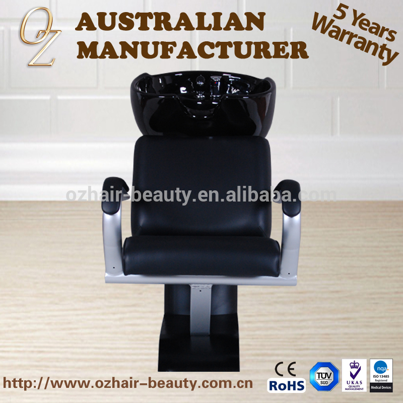 Hair Salon Backwash Shampoo Chair With Ceramic Sinks