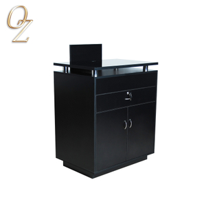 Black Low Prirce Salon Wooden Reception Desk Reception Counters