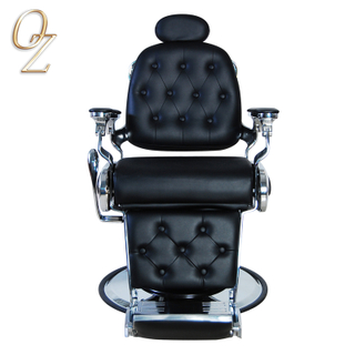 Heavy duty salon barber chair Popular Synthetic Leather Reclining Barber Chair Hairdressing Chair