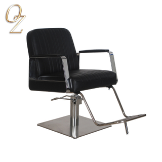 Classical Australian Standard PVC Vinyl Salon Chair With Footrest Hydraulic Haircut Chairs Luxury Beauty Shop Equipment