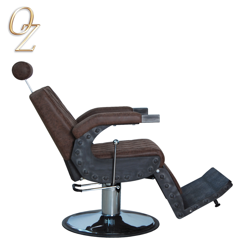 High Density Foam Reclining Barber Chair Loft Style Haircutting Chair Commercial Furniture For Barber Shop