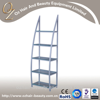 Portable Hair Salon Display Storage Shelf Display Stand With Glass Layers