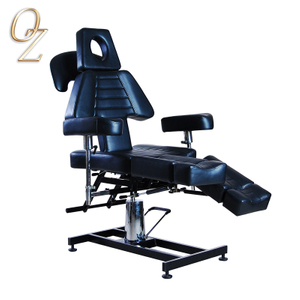 Australian Standard Black Hydraulic and Reclining PVC Leather Beauty Tattoo Bed Tattoo Furniture Manufacturer