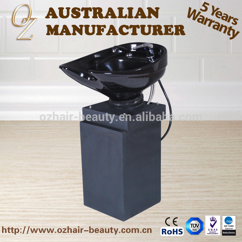 Hair Salon Wash Basin With Ceramic Bowl Potable Shampoo Bowl Adjustable Washing Bowl Unit