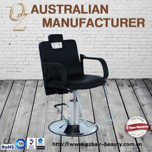 Round Base Modern Hydraulic All Purpose Men Hairstyling Barber Chairs