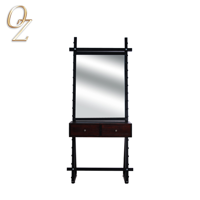 Old Style Workstation Beauty Salon Mirror With Storage function