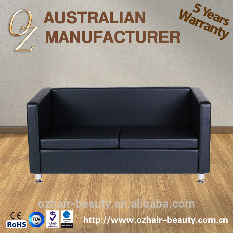 Synthetic Leather Waiting Sofa Waiting Room Benches For Hair Salon
