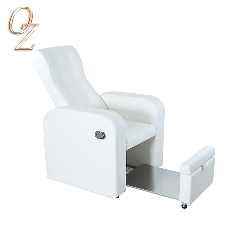 Professional Nobility Design Elegant Manual High Density Foam White Foot SPA Foot Massage Pedicure Chair Wholesale